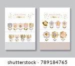 abstract simple folk style... | Shutterstock .eps vector #789184765