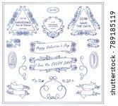 vector sign  symbols for frames ... | Shutterstock .eps vector #789185119