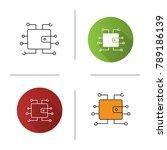 digital wallet icon. flat... | Shutterstock . vector #789186139