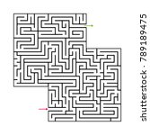 abstract maze labyrinth with... | Shutterstock .eps vector #789189475