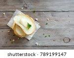 butter and bread for breakfast  ... | Shutterstock . vector #789199147
