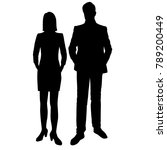 vector silhouettes of man and... | Shutterstock .eps vector #789200449