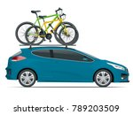 side view station wagon car... | Shutterstock .eps vector #789203509