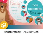 a vector illustration of dog... | Shutterstock .eps vector #789204025
