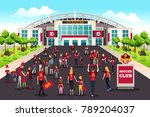 a vector illustration of soccer ... | Shutterstock .eps vector #789204037