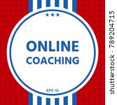 online coaching icon | Shutterstock .eps vector #789204715