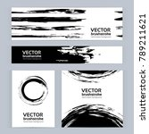 black and white banners of... | Shutterstock .eps vector #789211621