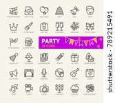 party elements   minimal thin...   Shutterstock .eps vector #789215491