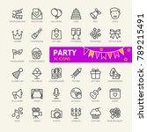party  birthday  celebration... | Shutterstock .eps vector #789215491