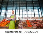 portrait of a grocery store... | Shutterstock . vector #78922264