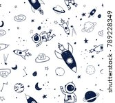 Space Pattern Hand Drawing...