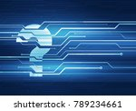 abstract digital concept... | Shutterstock . vector #789234661