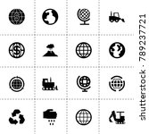 earth icons. vector collection...