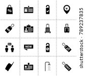 tag icons. vector collection...