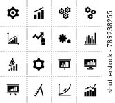 progress icons. vector... | Shutterstock .eps vector #789238255