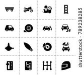 motor icons. vector collection... | Shutterstock .eps vector #789238285