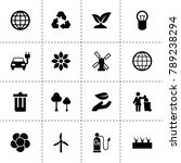 ecology icons. vector... | Shutterstock .eps vector #789238294