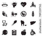 solid black vector icon set  ... | Shutterstock .eps vector #789239761