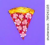 flower pizza. fast food art... | Shutterstock . vector #789241105