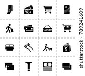 store icons. vector collection...