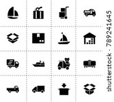 shipping icons. vector...