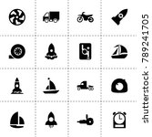 speed icons. vector collection... | Shutterstock .eps vector #789241705