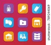 storage icons. vector...   Shutterstock .eps vector #789244069