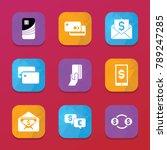 transfer icons. vector... | Shutterstock .eps vector #789247285