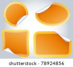 colorful labels on a background ... | Shutterstock .eps vector #78924856