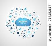 cloud computing design concept... | Shutterstock .eps vector #789253897