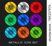 clock 9 color metallic chromium ... | Shutterstock .eps vector #789257974