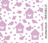 cute seamless pattern with... | Shutterstock .eps vector #789258115