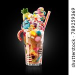 colourful  festive cocktail... | Shutterstock . vector #789259369