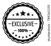 exclusive logo. simple...   Shutterstock . vector #789261235