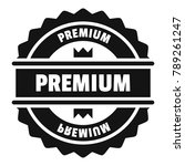 premium logo. simple... | Shutterstock . vector #789261247