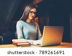 concentrated young woman in...   Shutterstock . vector #789261691
