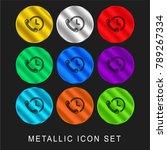 phone auricular and a clock 9... | Shutterstock .eps vector #789267334