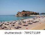 montenegro  budva  sveti stefan ... | Shutterstock . vector #789271189