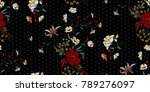 seamless floral pattern in... | Shutterstock .eps vector #789276097