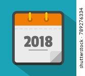 calendar new year icon. flat...