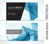 elegant modern business card... | Shutterstock .eps vector #789278224