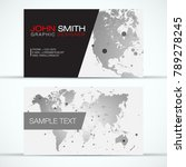 elegant modern business card... | Shutterstock .eps vector #789278245