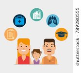 insurance services concept | Shutterstock .eps vector #789280555