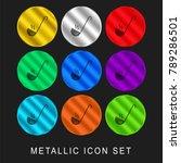 ladle 9 color metallic chromium ... | Shutterstock .eps vector #789286501