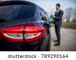 close up rear view of car back... | Shutterstock . vector #789290164