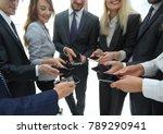 close up of smartphones in the... | Shutterstock . vector #789290941