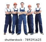 group of professional... | Shutterstock . vector #789291625