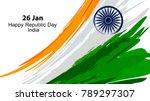 illustration of indian flag in... | Shutterstock .eps vector #789297307