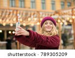 cheerful young model dressed in ... | Shutterstock . vector #789305209