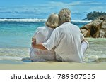 elderly couple rest at tropical ... | Shutterstock . vector #789307555